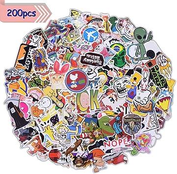 Aufkleber Sticker Graffiti Stickerbomb 200 Stück Wasserdicht Vintage Hippie Pop Art Für Auto Motorrad Fahrrad Skateboard Snowboard Gepäck Laptop Macbook Helm Gitarre Iphone Ps4 Xbox One Nintendo Auto