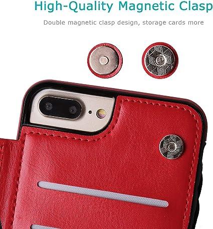 Suhctup Compatibile con Custodia iPhone 7 Plus pelleCover iPhone