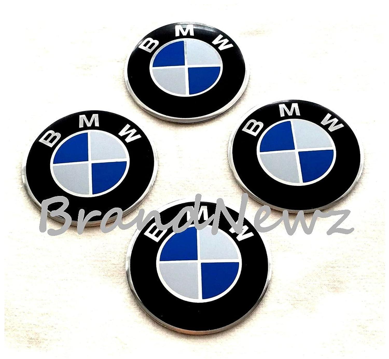 bmw embl me de centre de roue pac sticker logo badge de bordure de roue 55 mm d me lot de 4. Black Bedroom Furniture Sets. Home Design Ideas