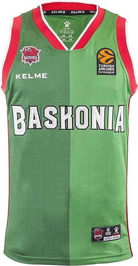 Adultos Unisex Verde XXL Baskonia KELME 2/º Equipacion Camiseta