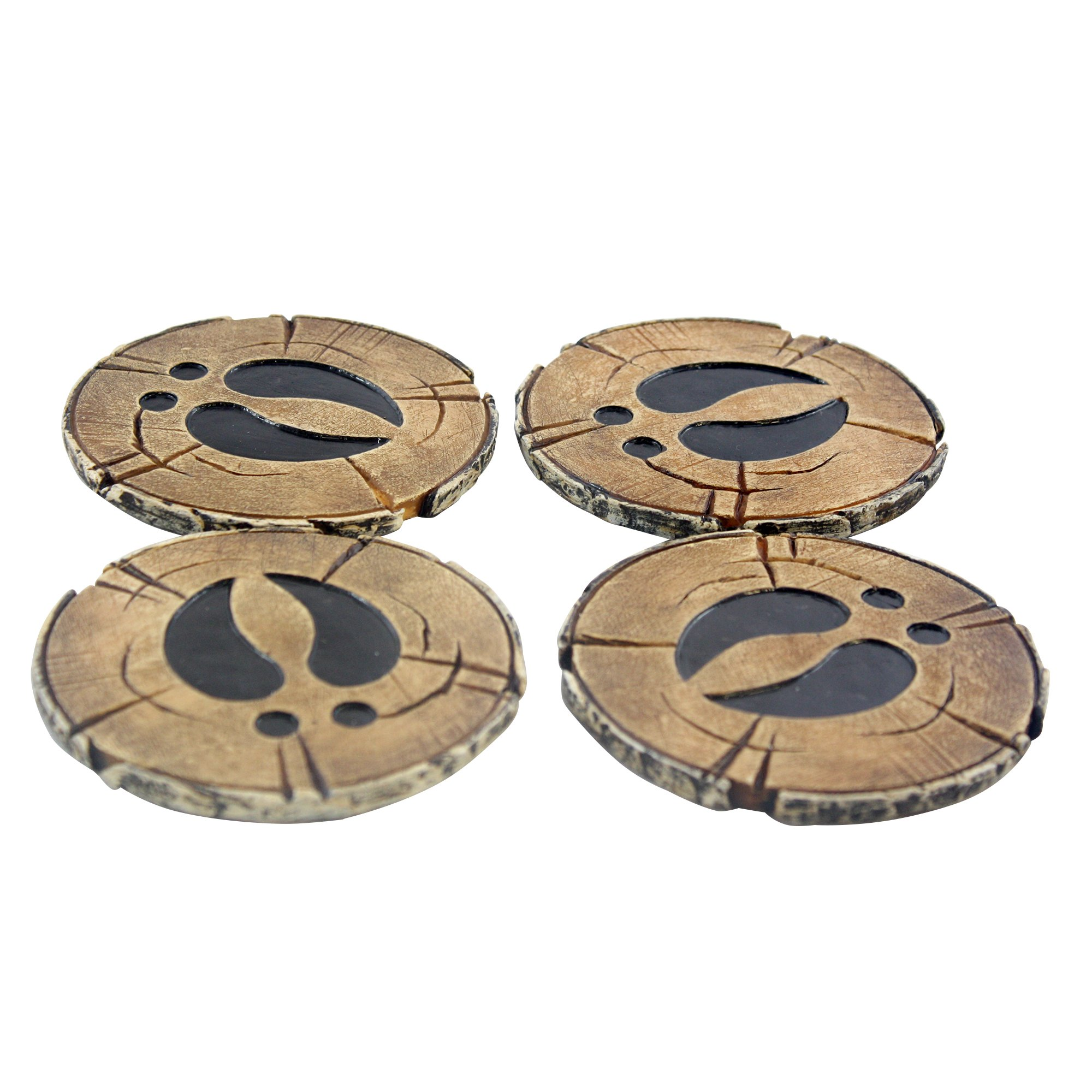 Pine Ridge Old West Deer Antler Drink Coasters Set Of 4 - Home Table Beverage Coaster With Holder - Drink Glass Holder With Outdoors Rustic Cabin Theme Decor by Pine Ridge (Image #6)