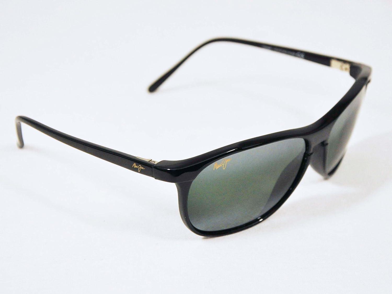 0ac09c251b1f Maui Jim Sunglasses Voyager 178-02 Gloss Black Polarized Neutral Gray Lens,  Sunglasses - Amazon Canada