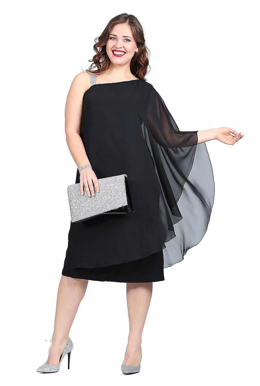 Damen Designer Kleid Abendkleid Tüll Trägerkleid Elegant auch Große ...