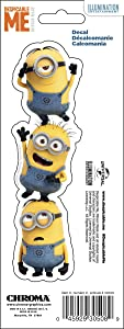CHROMA 030508 Universal Minions Stacked 3x8 Stick Onz Decal, 1 Pack