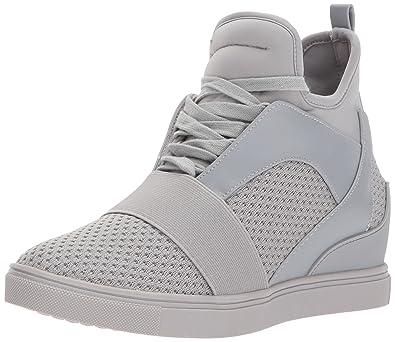 9a56e29cff2 Steve Madden Women s Lexi Sneaker Grey 6 ...