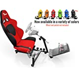 Openwheeler Racing Wheel Stand Cockpit Red on Black   For Logitech G29   G920 and Logitech G27   G25   Thrustmaster   Fanatec Wheels   Racing wheel & controllers NOT included