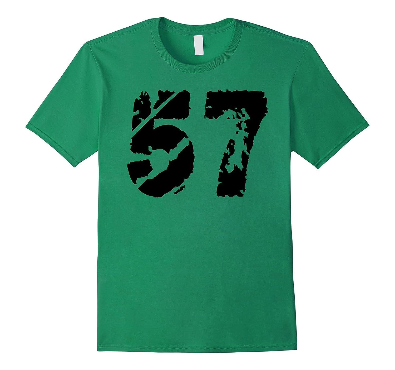 1957 T-Shirt distressed vintange Birthday 57 Tee-CD