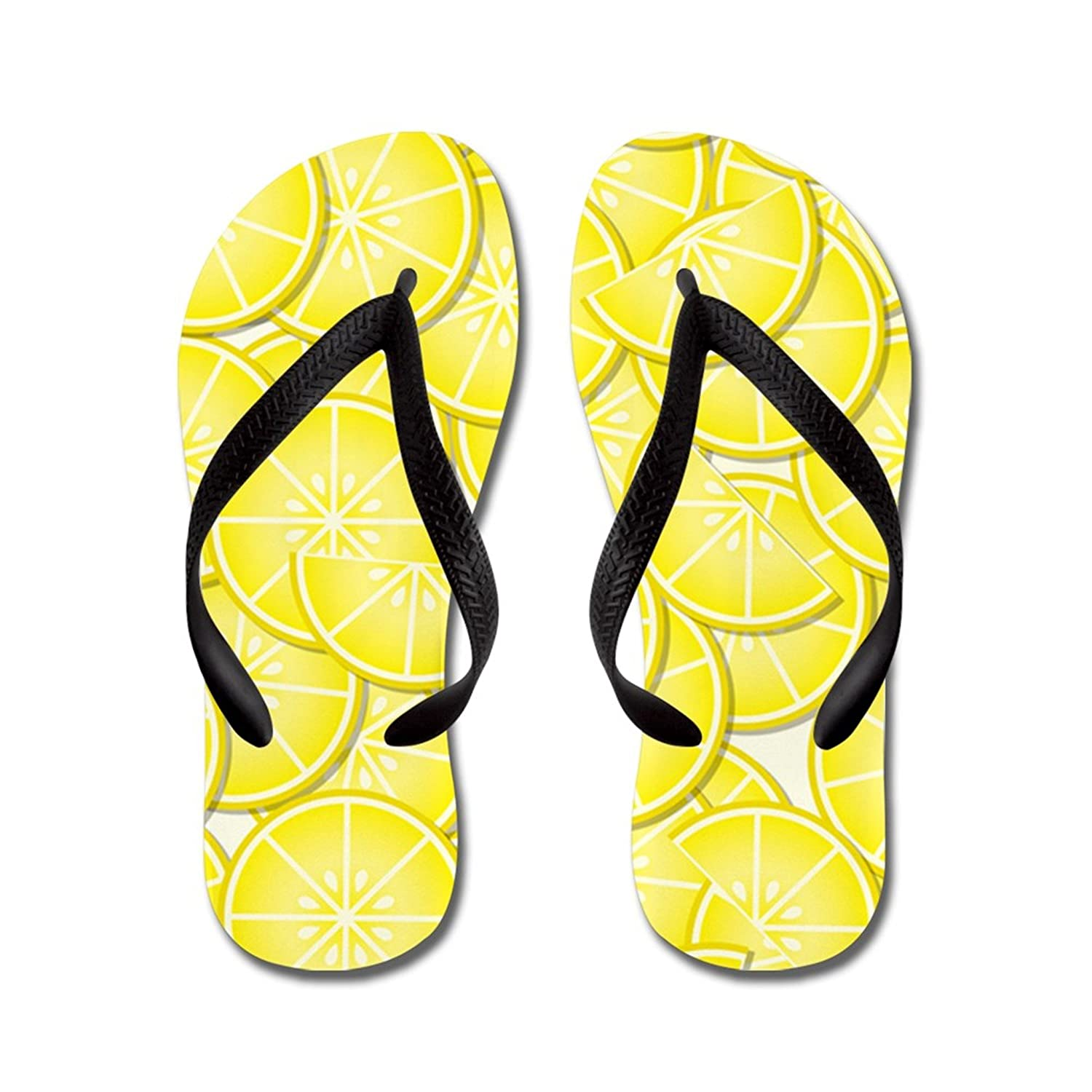 Lplpol Yellow Lemons Flip Flops for Kids and Adult Unisex Beach Sandals Pool Shoes Party Slippers