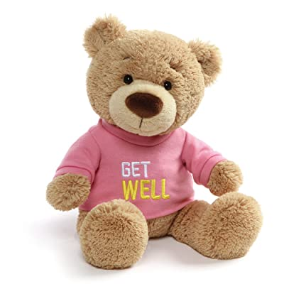 "GUND Get Well T-Shirt Teddy Bear Stuffed Animal Plush, Pink, 12.5"": Toys & Games"