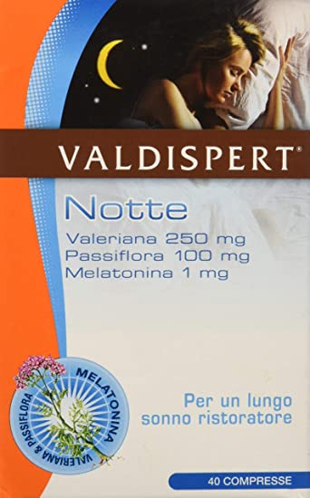 Amazon.com: Valdispert Night 1mg Food Supplement 40 Tablets: Health ...