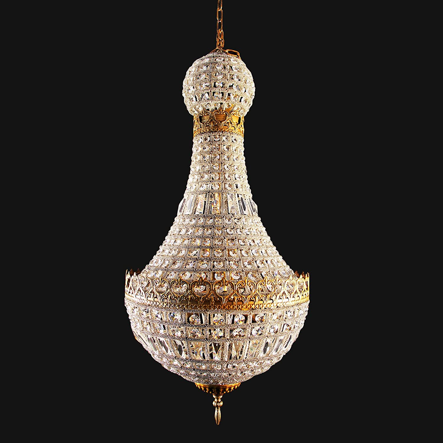 Large foyer entryway french empire crystal chandelier chandeliers lighting fixture for pendant ceiling lamp for dining room entryway living roomhigh