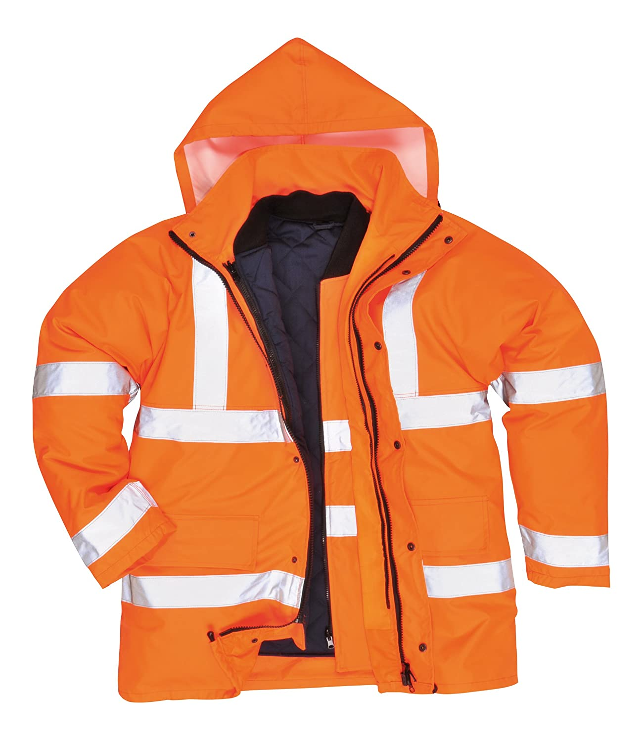 Portwest S468YERXXL Hi-Vis 4-in-1 Traffic Jacket, Regular, Size XX-Large, Yellow Portwest Clothing Ltd