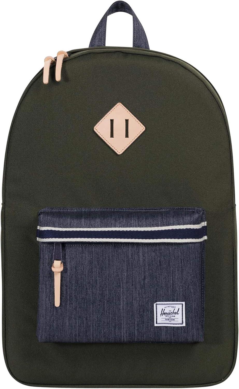Herschel Supply Co. Men's Heritage Backpack, Forest Night/Dark Denim, Green, One Size