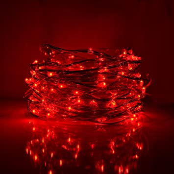 Amazon.com : Fairy Lights- 33 Foot Plug In 100 Micro LED on Copper ...