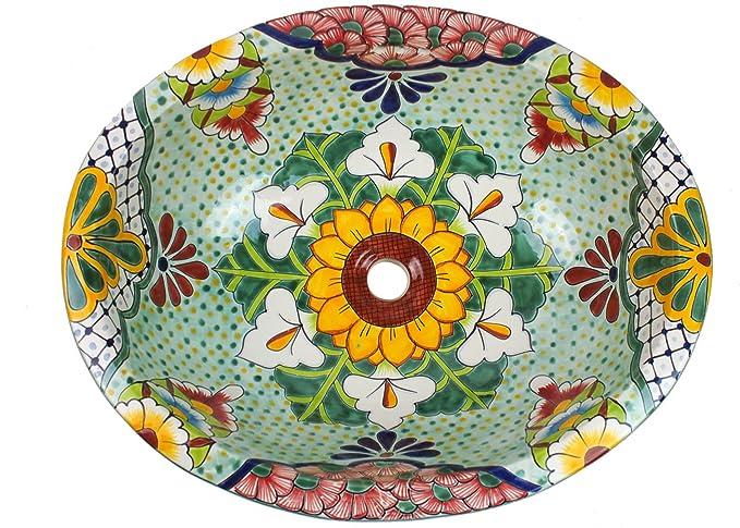 De forma ovalada XL-lavabo, diseño de: flores Talavera. De ...