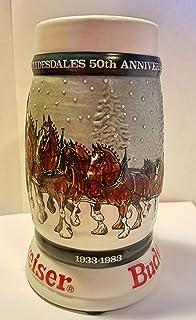 budweiser holiday steins collectible holiday stein series year 1982 - Budweiser Christmas Steins