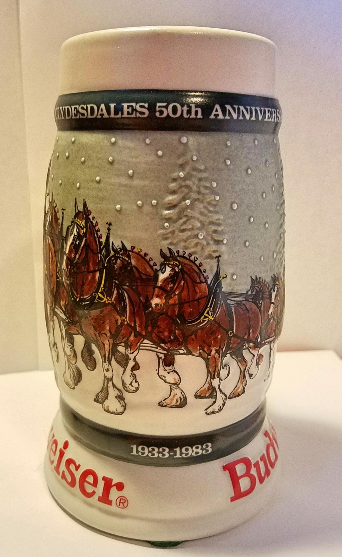 Budweiser Holiday Steins Collectible Holiday Stein Series (Year 1982)