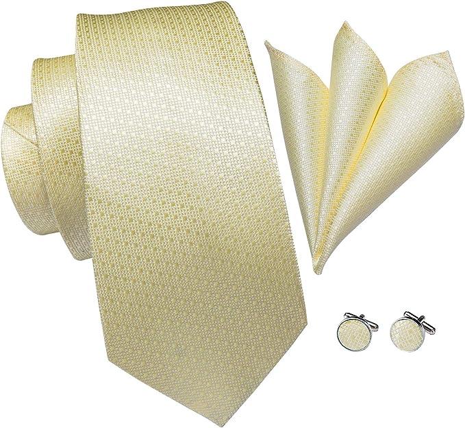 Hi-Tie - Corbata - para hombre amarillo Talla única: Amazon.es ...