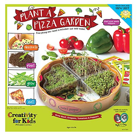 creativity for kids plant a pizza garden vegetable and herb starter kit for kids - Pizza Garden