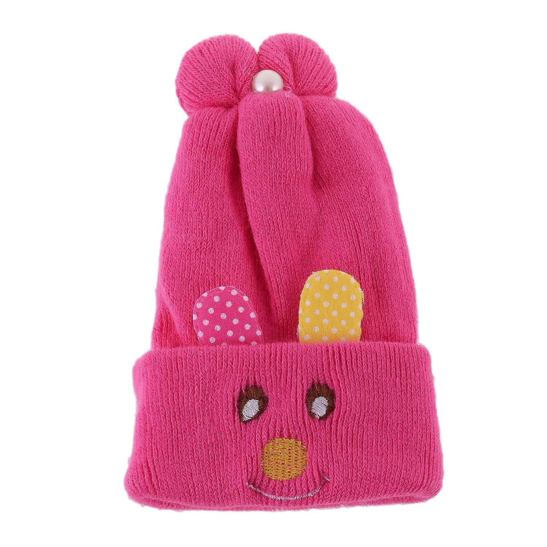 Shop Frenzy Kids Woolen Winter Soft caps for Baby boy Baby Girl Fancy Party  wear Beanie Monkey Cap (0-1 Year) 0-12 Months  4bd1de2fff9