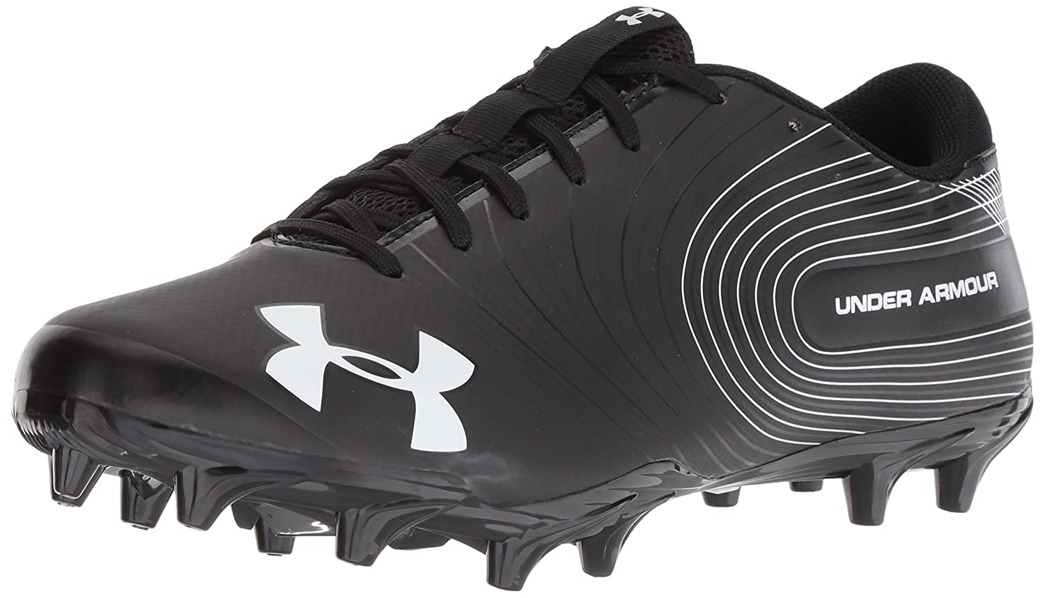 Under Armour Men's Speed Phantom MC Football Shoe, Black/White 3000169