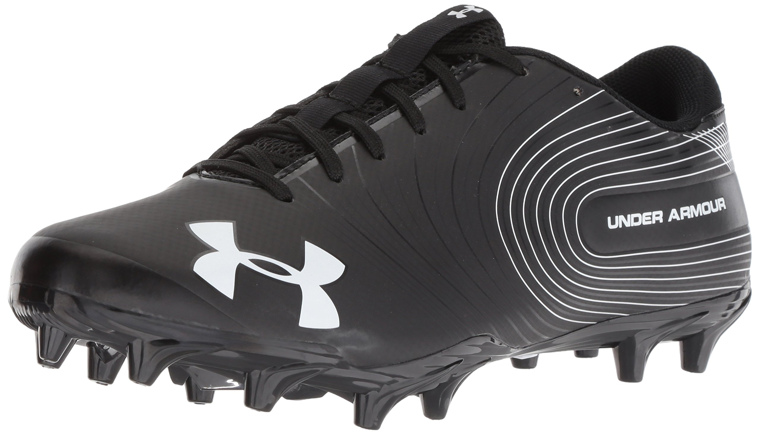 Under Armour Men's Speed Phantom MC Football Shoe, Black (001)/White, 13 by Under Armour