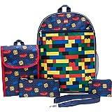 LEGO Classic Backpack Combo Set - Lego Boys' 5 Piece Backpack Set - Lego Backpack & Lunch Kit (Navy)