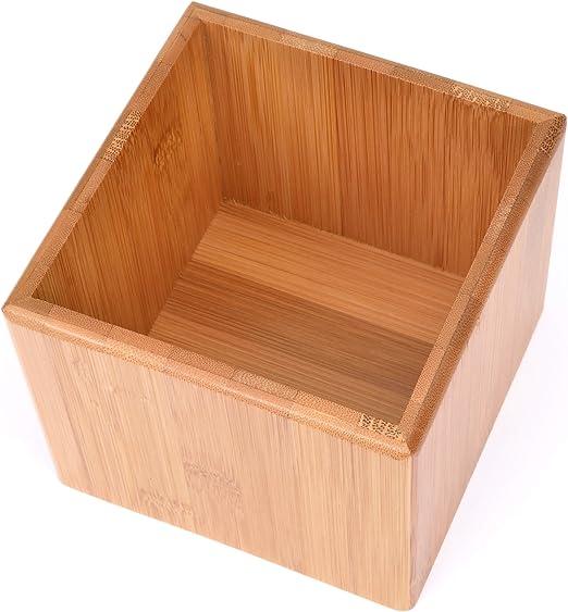 Amazon De Grawe Aufbewahrungsbox Aus Bambus 12 12 Cm Fur Bad Kuche Buro