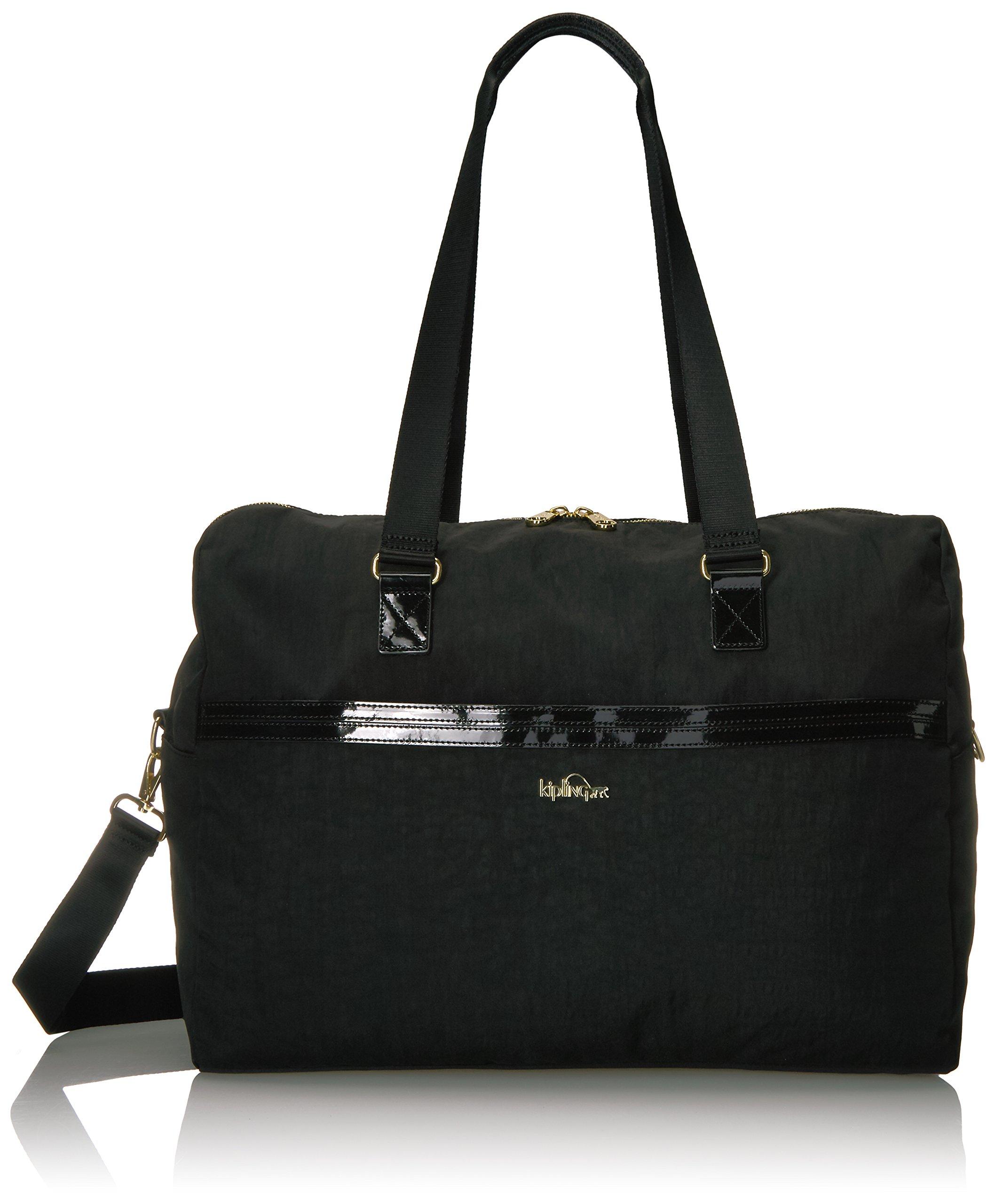 Kipling Women's Sasso Large Duffle Bag, Black Patent Combo by Kipling