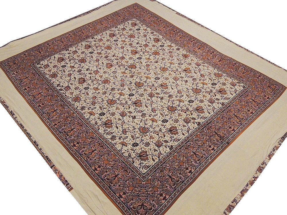 Elegant Print Duvet Cover Comfy Cotton Romantic Floral Indian Bedroom Linens ~ Queen