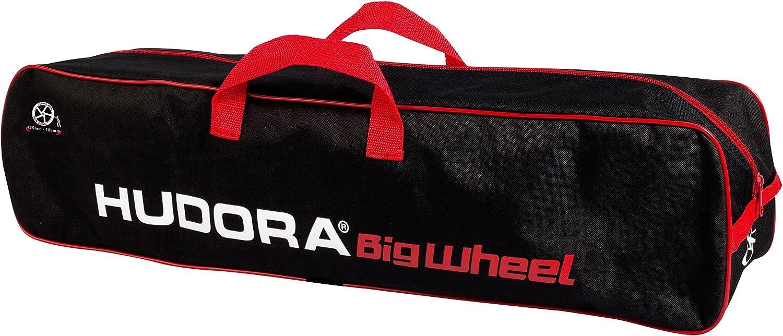 Hudora- Scooter 120-180 - Bolsa de Transporte para Patinete 14490, Color Negro y Rojo
