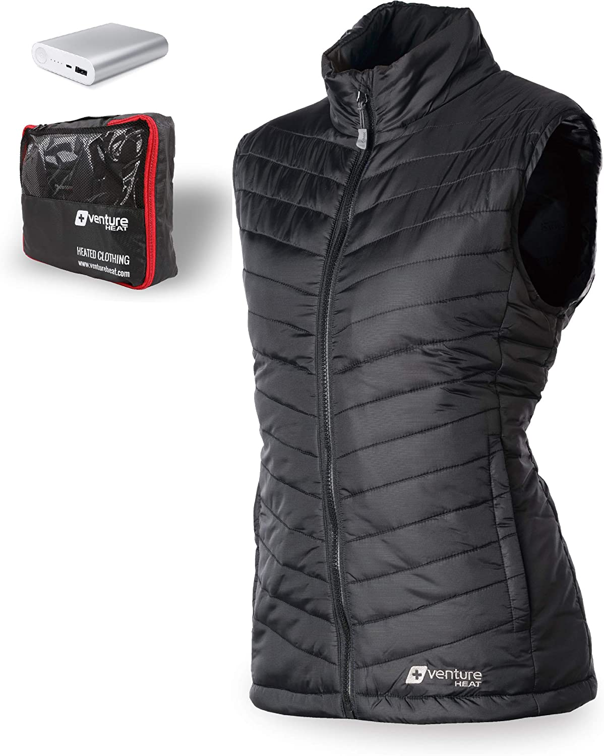 Venture Heat Women's Heated Vest with Battery 12 Hour - The Roam Puffer Heated Vest for Women, USB Powered