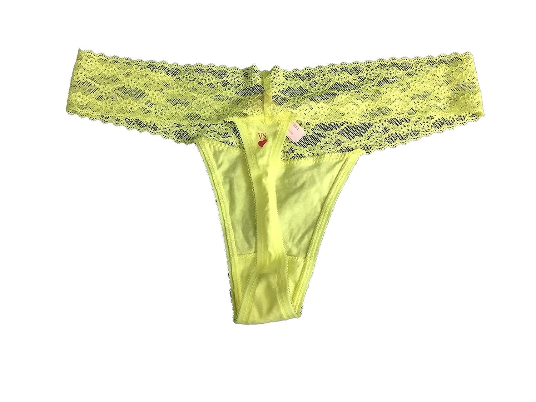 Victorias Secret - Tanga de encaje amarillo L: Amazon.es: Ropa y accesorios