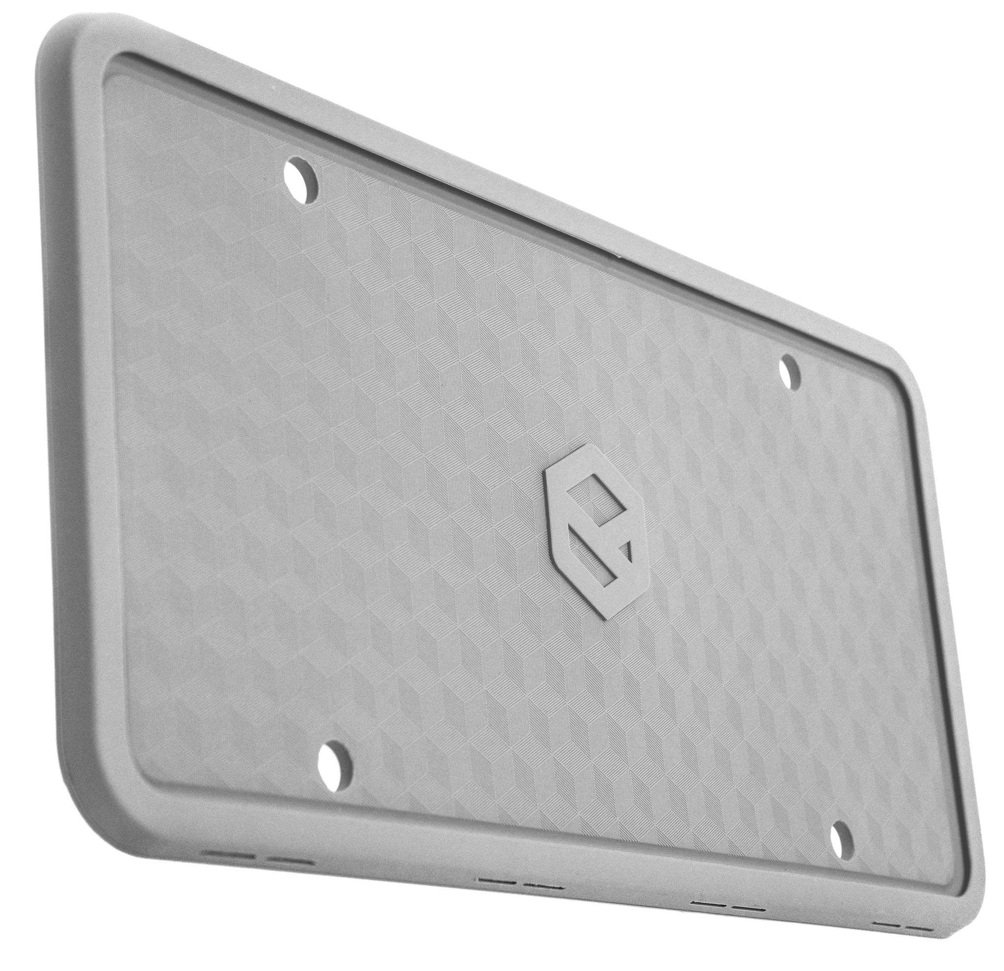 Rightcar Solutions Flawless Silicone License Plate Frame - Black Rust-Proof Weather-Proof Rattle-Proof