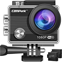 Campark ACT68 Action Camera Waterproof Camera WiFi 4K & FHD 1080P Underwater Video Cam Mounting Accessories Kit for Gopro Camera
