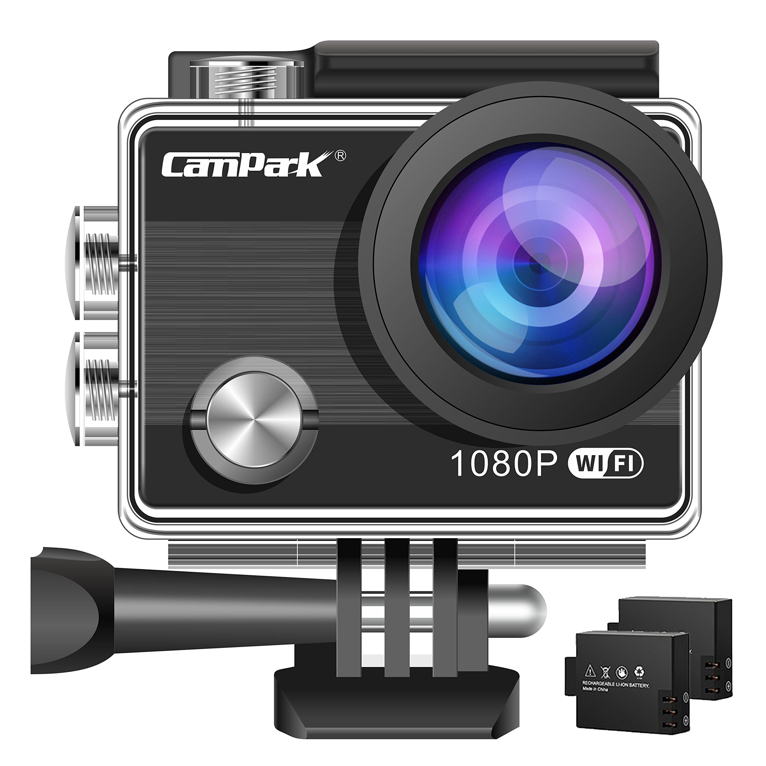 Campark ACT68 Action Camera Waterproof Camera WiFi 4K & FHD 1080P Underwater Video Cam Mounting Accessories Kit for Gopro Camera by Campark