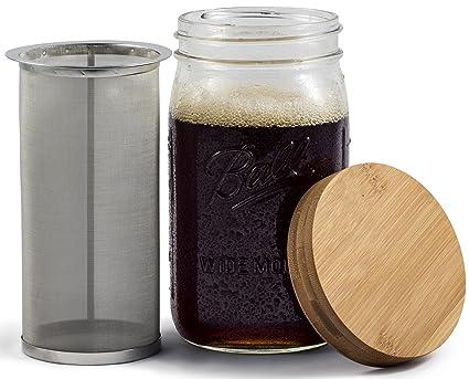 Mason Jar Cold Brewed Coffee Maker and Iced Tea Maker