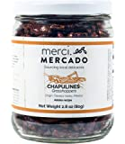 Chapulines (grasshoppers) - Gourmet edible insects from Oaxaca Mexico (Adobo recipe) (Merci Mercado 2.8 oz)