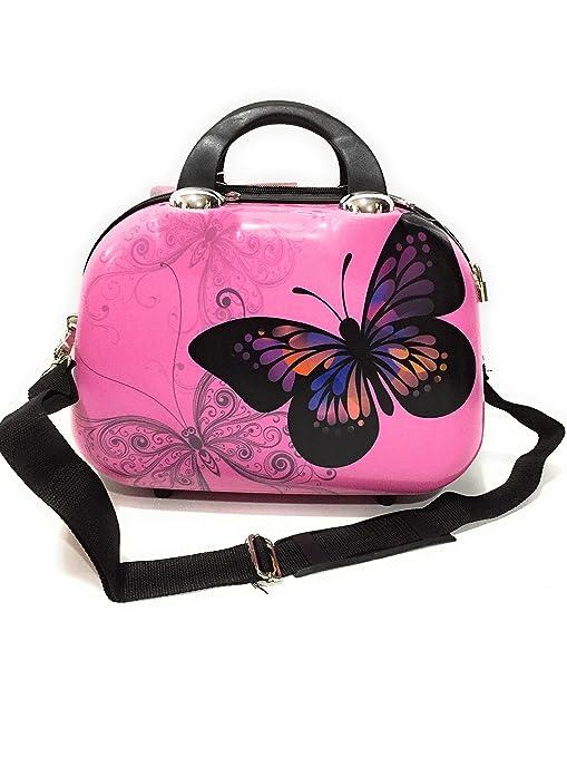 Neceser Mariposa Rosa, con asa bandolera: Amazon.es: Equipaje