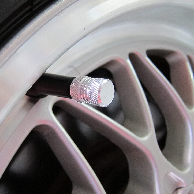 Gray PA Aluminum Alloy Wheel Tire Valve Stem Caps
