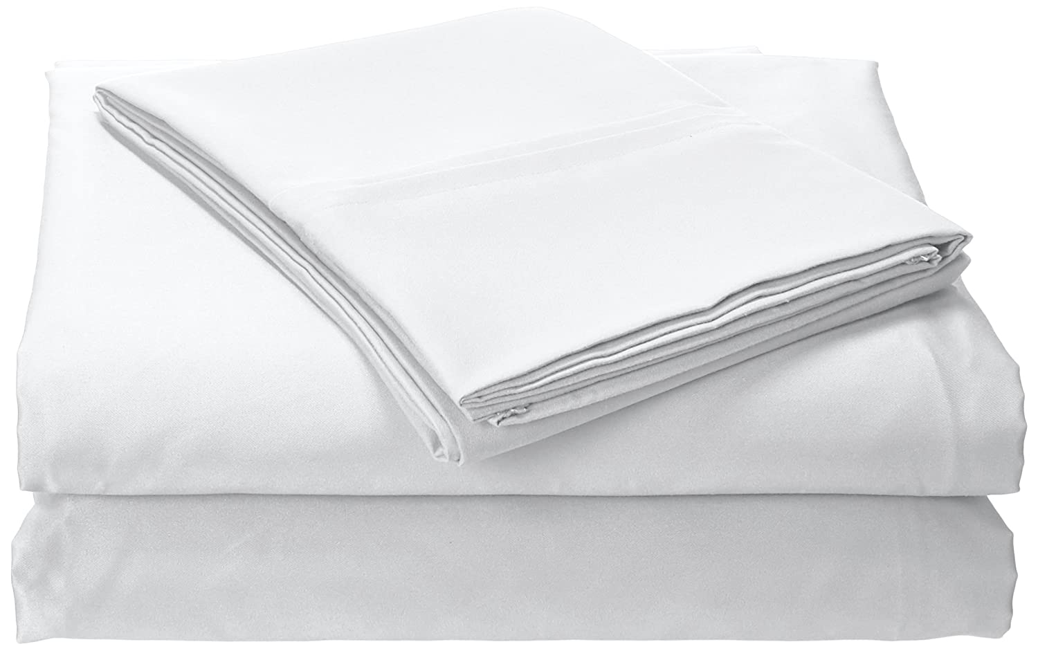 Tribeca Living MF110DPSSKIWH Solid Deep Pocket Sheet Set with Oversize Flat, King, White