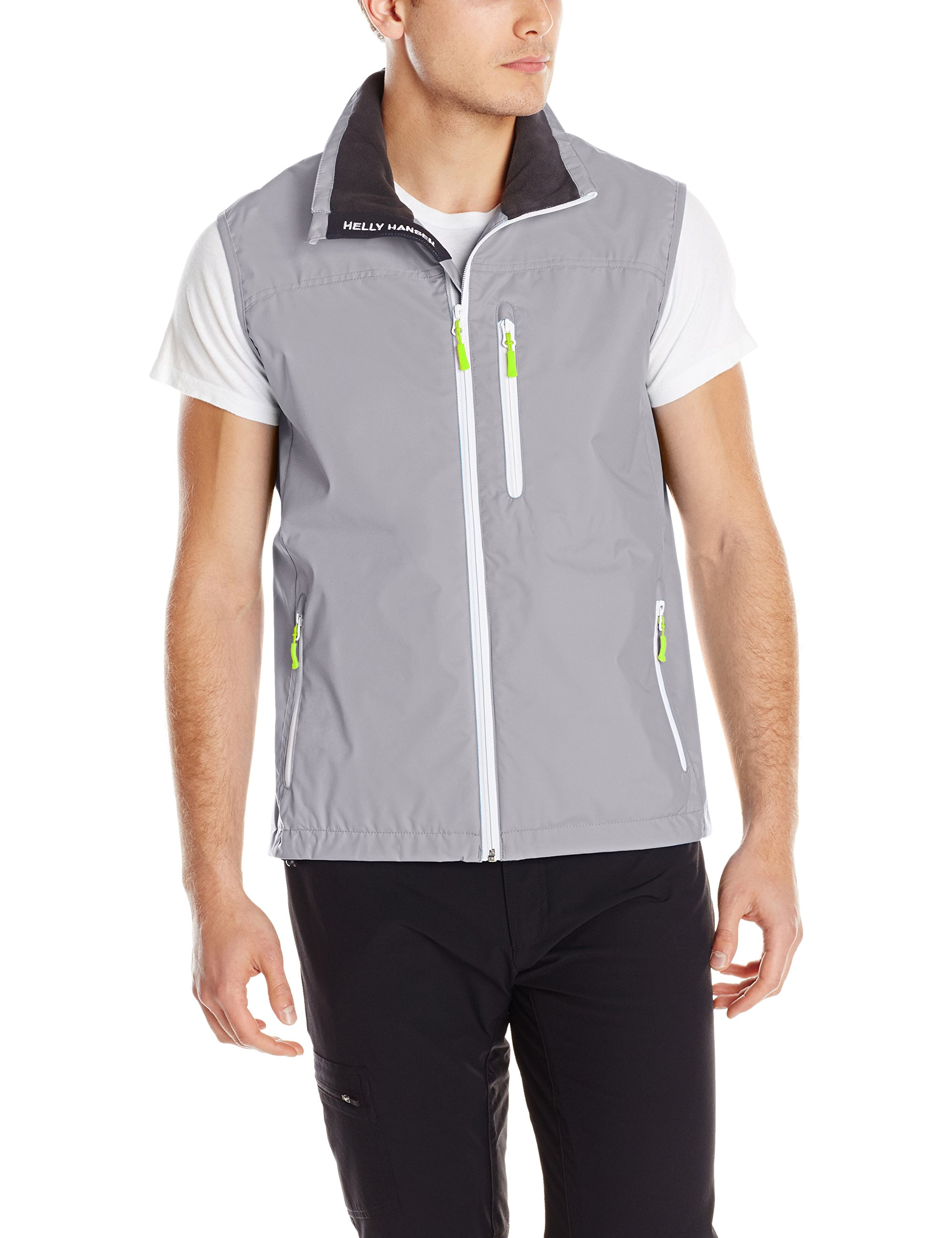 Helly Hansen Men's Crew Vest Waterproof, Windproof, & Breathable Sailing Vest, 820 Silver Grey, Small by Helly Hansen