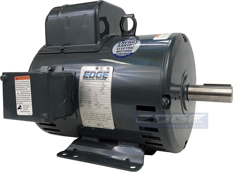 Super Heavy Duty Leeson Electric 5hp 184t Compressor Duty Motor 1725 Rpm 230vac 1 1 8 Shaft Diameter Reversible Rotation Home Improvement