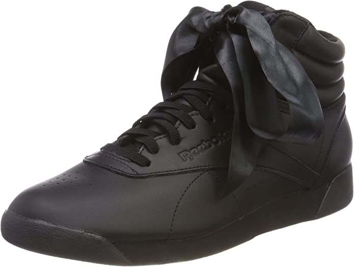 Reebok Freestyle Hi Sneakers High Top Damen Seidenschleife Schwarz