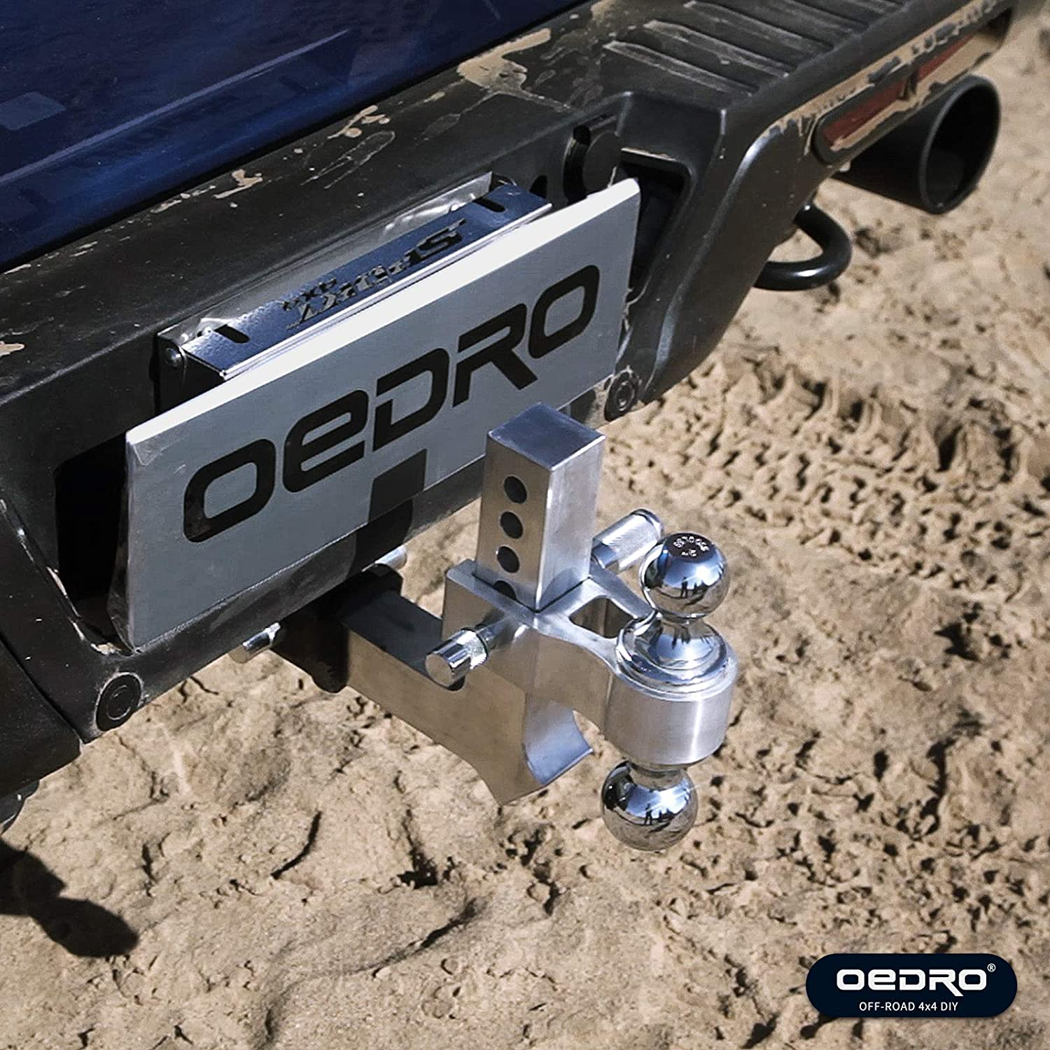 10000 lbs 2 Receiver//6 Drop 2 /& 2-5//16 Combo Tow Balls w//Double Pin Key Locks Polished Silver oEdRo Adjustable Trailer Hitch Ball Mount//Forged Aluminum Shank