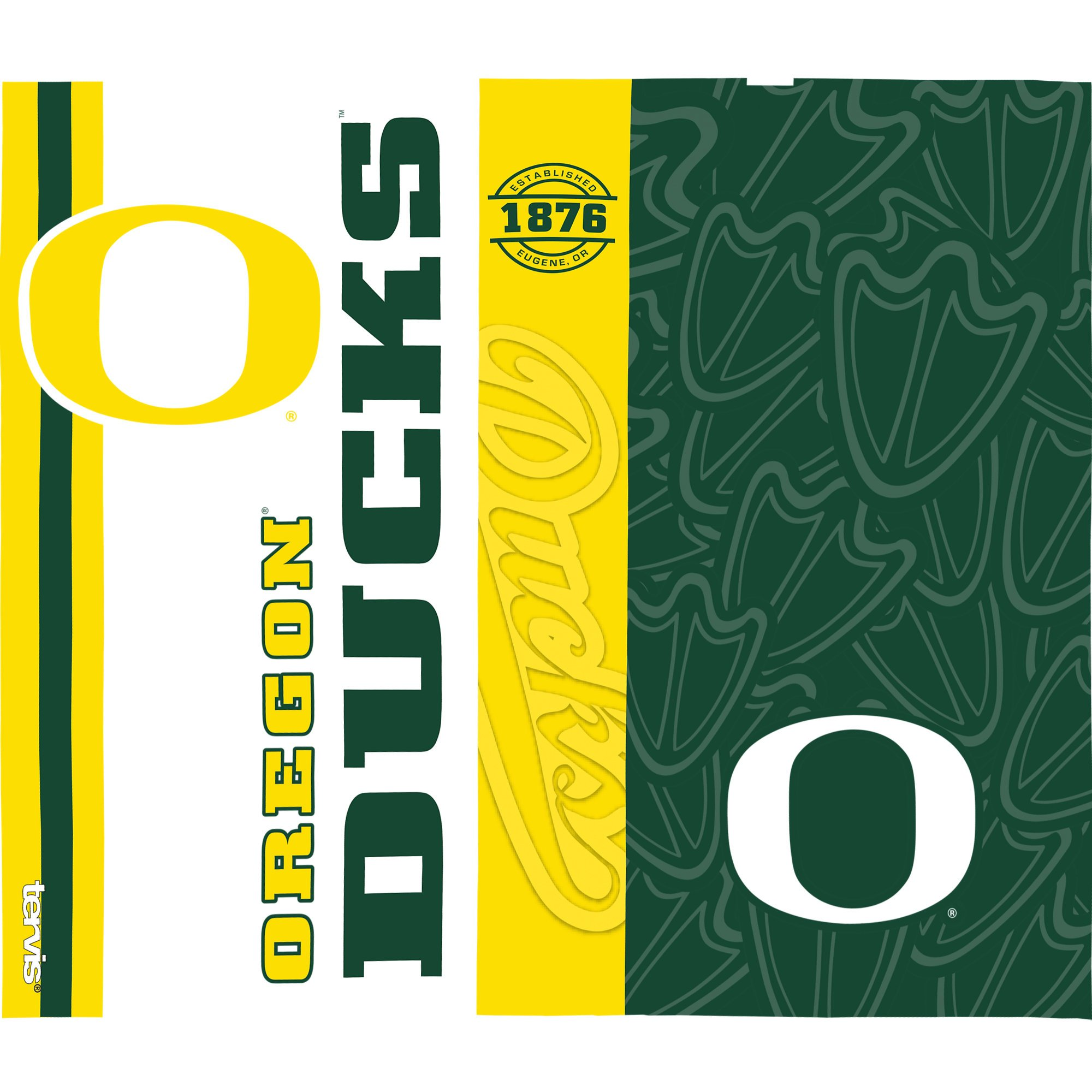 Tervis 1220456 Oregon Ducks College Pride Tumbler with Wrap and Hunter Green with Gray Lid 24oz Water Bottle, Clear by Tervis (Image #2)