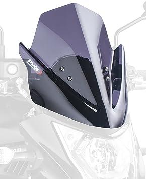 Puig 5997f Windschutzscheibe New Generation Er6n 12 13 Transparent Dunkelgrau Rauch Auto