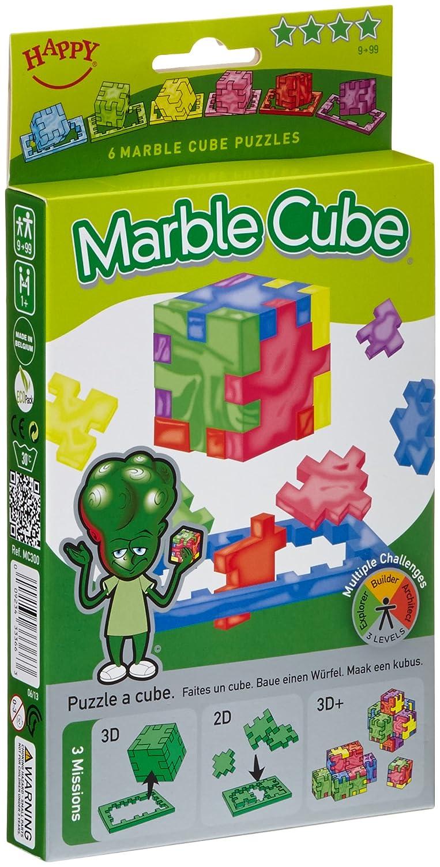 Happy 33366 - Marble Cube 6-pack cardboardbox, 3D-Puzzlewürfel mit Schwierigkeitsgrad sehr schwer, 6 Stück 6 Stück 275 Wissens- & Denkspiele
