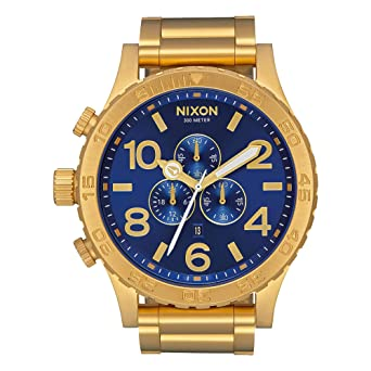 nixon unisex 51 30 chrono all goldblue sunray one size