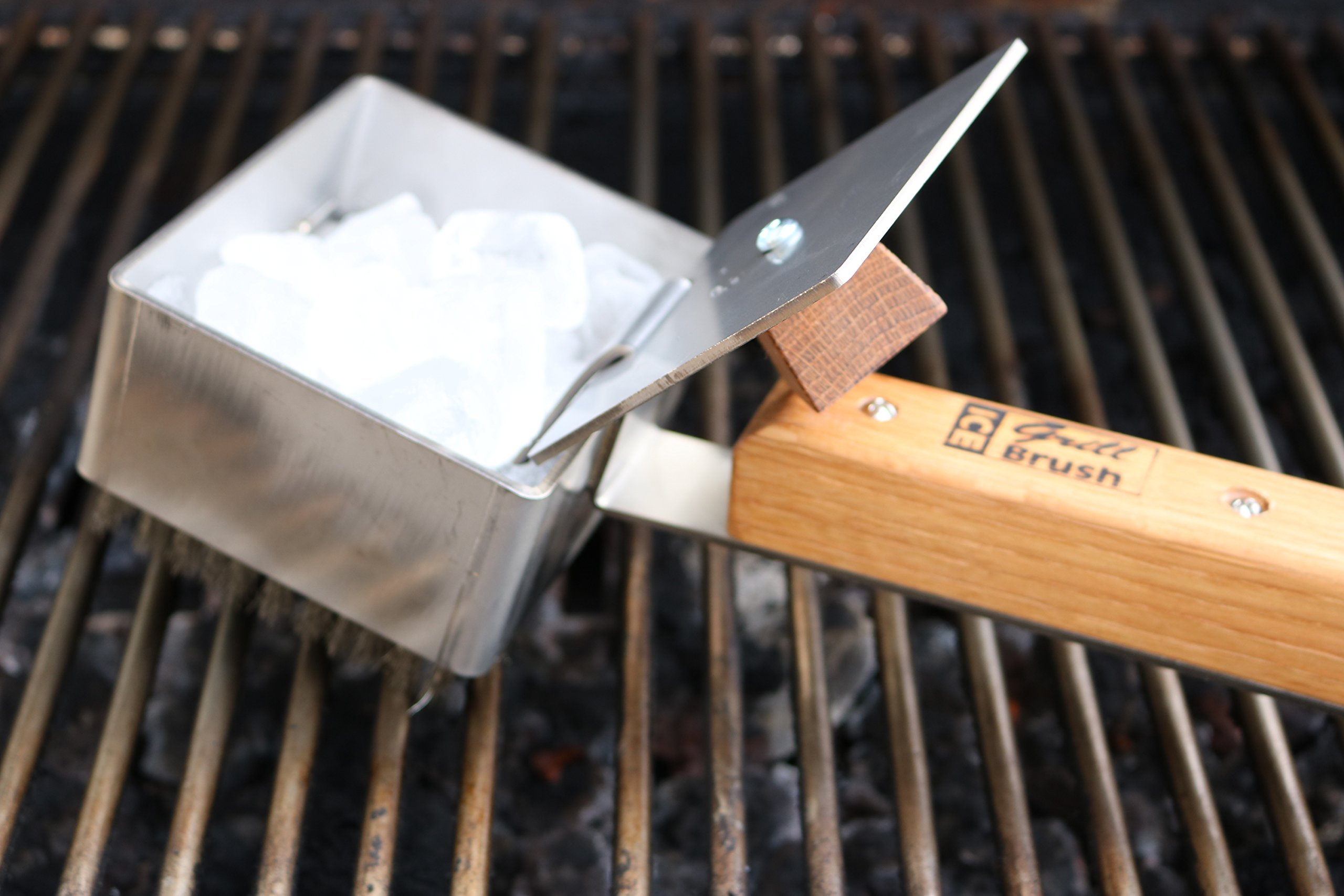 Ice Grill Brush Stainless Steel and Hardwood Grill Cleaning Brush by Ice Grill Brush